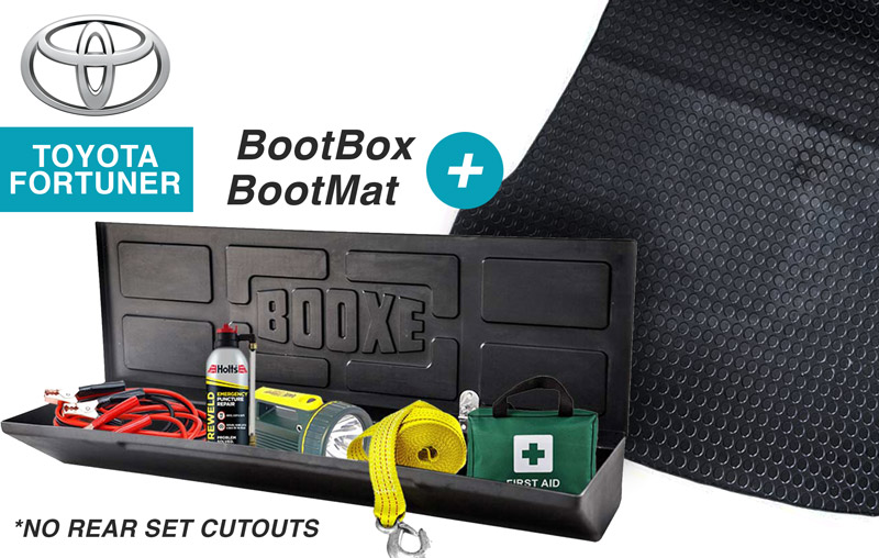 COMBO 1 – Boot Box & Boot Mat (without rear seat cutouts)