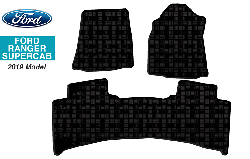 Ford Ranger Super Cab Floor Mats 2019